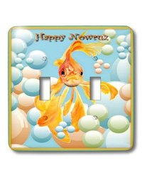 Happy Nowruz Iranian New Year Fantail Double Toggle Light Switch