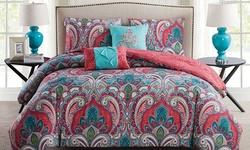 VCNY 5-Piece Casa Re?al Reversible Comforter Set - Multi - Size: King