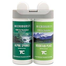 Rubbermaid Microburst Duet Alpine Spring/Mountain Peaks Refills - 4 Pack