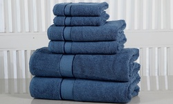 Elegance Spa 600GSM 100% Fine-Combed Cotton Towel Set - Blue Stone - 6Pc