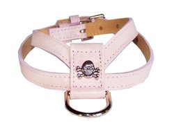 Large Skull K Dog Harness For Pets Up to 20lbs - Pink - Size: Medium