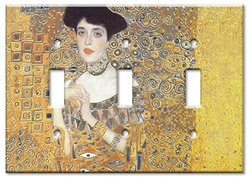 Art Plates - Klimt Adele Bloch Switch Plate - Triple Toggle