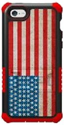 Beyond Cell Hybrid Hard Shell Silicone Case - iPhone 5C - American Flag