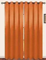 "RT Designers Selena Grommet Window Curtain Panel - 54 x 84"" - Tangerine"