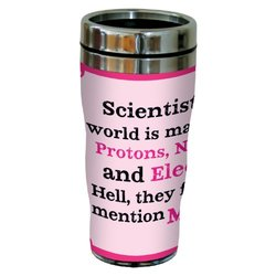 "Tree-Free Greeting ""Protons/Neutrons/Morons"" 16 Oz Stainless Steel Tumbler"