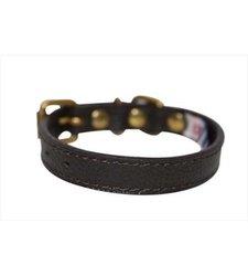 Angel Pet Supplies 40981 Alpine Plain Dog Collar - Chocolate Brown