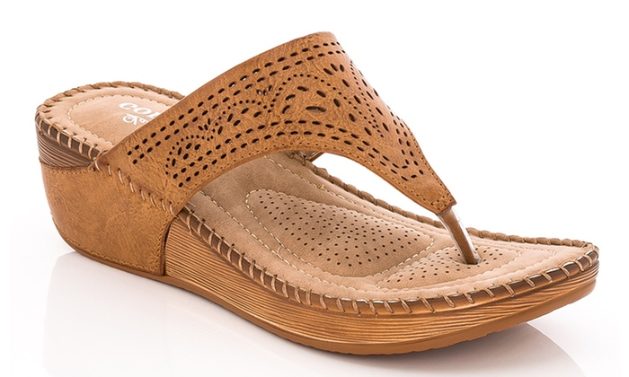 d42172a06ef357 Lady Godiva Women s Comfort Thong Sandal - Tan - 7.5 - Check Back ...
