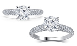 Brilliant Diamond 1.25 CTTW Diamond Engagement Rings in 14K Gold - Size: 7