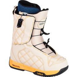Celsius Women's Cosmo O.Zone Speed Lace Snowboard Boots - Beige - Size: 8