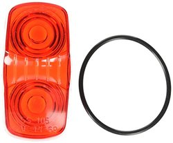 Truck-Lite Automotive Replacement Lens - Red (9006/9006A)