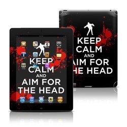 Decal Girl Skin Kit for Apple iPad 2/3/4 - Keep Calm/Zombie