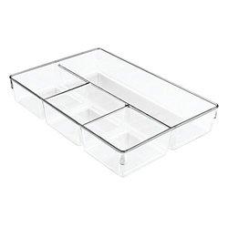 InterDesign Linus Dresser Closet Drawer Organizer, 13-inch by 9-inch by 2.25-inch, 3 Pack, Clear