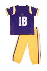 NCAA LSU Tigers Toddler Football Uniform Pajamas - Purple/Gold - Sz: 6T
