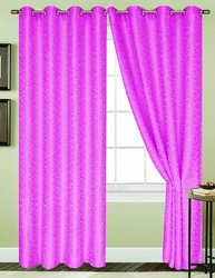 RT Designers Collection Aurora Window Curtain Panel, 54 by 90-Inch, Neon Pink