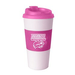 NCAA Western Carolina Catamounts Pink Sleeved Travel Tumbler, 16-ounce