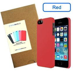 Crystal Shells Slim Premium Soft Touch Hard Case for iPhone 5/5S - Red