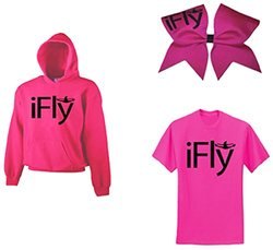 Chosen Bows iFly Super ComBow Hoodie - Hot Pink - Size: Adult Large