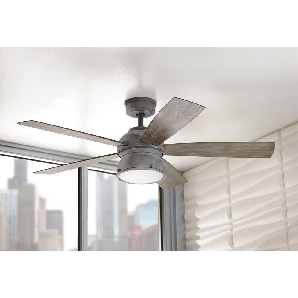 Gray h d c 89764 52 indoor outdoor weathered ceiling fan