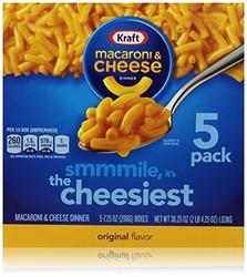 Kraft Macaroni and Cheese Dinner Original Flavor - 5 Boxes