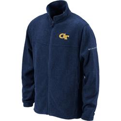 Columbia Men's Georgia Tech Full-Zip Fleece Jacket - Navy - Size: Small
