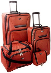 U.S. Traveler Westport 4-Piece Luggage Set: Orange