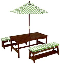 KidKraft 00103 Table and Bench Set with Umbrella Toy