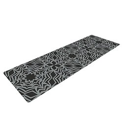 "Kess InHouse Miranda Mol Yoga Exercise Mat - Optical Fest - 72"" x 24"""