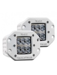 Rigid Industries 46757 M-Series Flush Mount - Dually D2 LED Pair - Wide