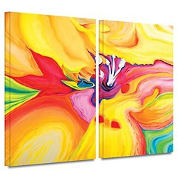 ArtWall Susi Franco 'Secret Life of Lily' 2-Piece Gallery Wrapped Canvas Artwork, 24 by 32-Inch