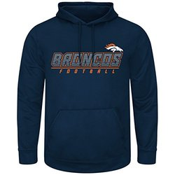 Majestic Denver Broncos NFL Punt Return Hooded Sweatshirt - Blue - Size: L