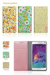 Araree Bloom Print Blossom Diary Case for Galaxy Note 4 - Multi