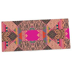 "KESS InHouse Vasare Nar ""New Wave Zebra"" Pattern Pink Office Desk Mat, Blotter, Pad, Mousepad, 13 x 26-Inches"