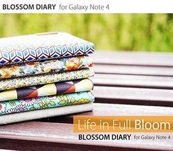 Araree Cube Print Blossom Diary Case for Galaxy Note 4 - Multi