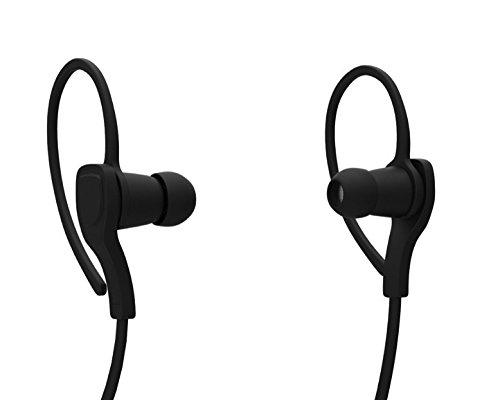 97df0b3f8d7 ... POM Gear P2G-SP1-RBK Basik Sport Secure Fit Bluetooth Earphones Black  ...