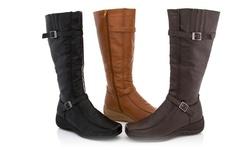 Lady Godiva Women's 2402-76 Comfort Wedge Sandals - Black - Size: 6.5