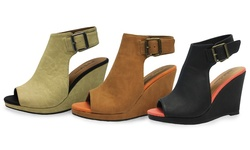 Michael Antonio Women's Arianna Wedge Sandals - Natural - Size: 8