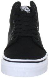 VANS Unisex 106 Hi High Top Skate Shoes - Black/Black - Size: M6.5/W8