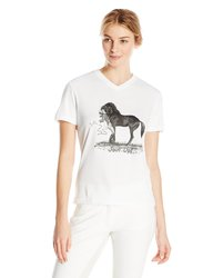 "Intrepid Women's Jude Too Horse ""Join Up"" T-Shirt - White - Size: L"