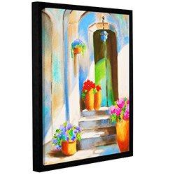 """ArtWall Susi Franco's Tuscan Morning Stillness Framed Canvas - 14""""X18"""""""