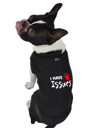 "Doggie Tank Top ""I Have Issues"" - Brown - Size: Medium"