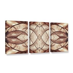 """Cora Niele's Wallpaper IV 3 Piece Gallery Wrapped Canvas Set - 18 by 36"""""""