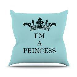 "Kess InHouse Louise Machado ""I'm a Princess"" Throw Pillow - 18 x 18"""