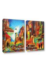 ArtWall Susi Franco's Twilight in Treviso 2 Pcs Gallery Wrapped Canvas Set