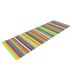 "Nandita Singh ""Pattern Play Stripes"" Yoga Mat - Rainbow - 72 x 24"""