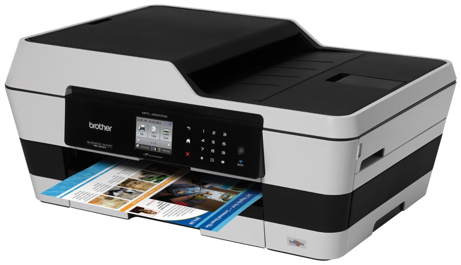 brother wireless color printer scanner copier fax mfc j6520dw
