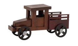 Deco 79 Wood Truck - 18 by 10-Inch - Cherrywood