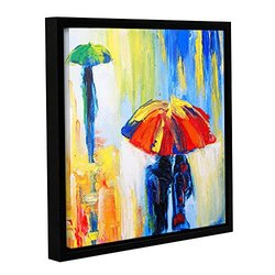 Susi Franco's Downpour Gallery Wrapped Floater-Framed Canvas - 18 x 18""