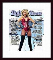 Barewalls Rolling Stone Cover Sarah Michelle Gellar Wood Framed Art Print