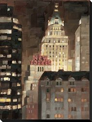 "Manhattan Illuminated by Paulo Romero Stretched Canvas Print 29"" x 22"""