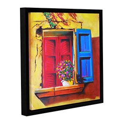 ArtWall Susi Franco's Venetian Window Gallery Wrapped Floater-Framed Canvas, 18 by 18""